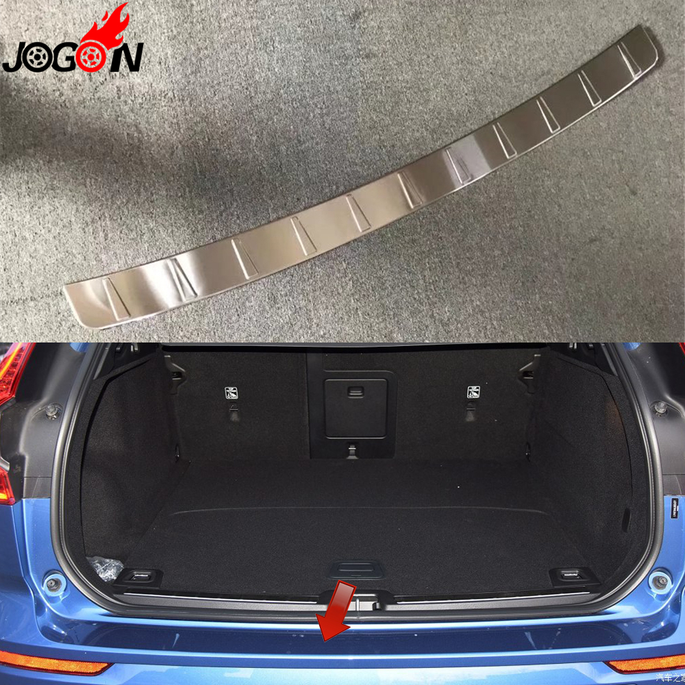 For Volvo XC60 2018 2019 Car Styling Exterior Trunk Rear Bumper Protector Scuff Sill Plate Cover Trim Stainless Steel stainless steel interior rear bumper protector sill rear trunk scuff plate trim for peugeot 408 2014 2015 car styling accessory