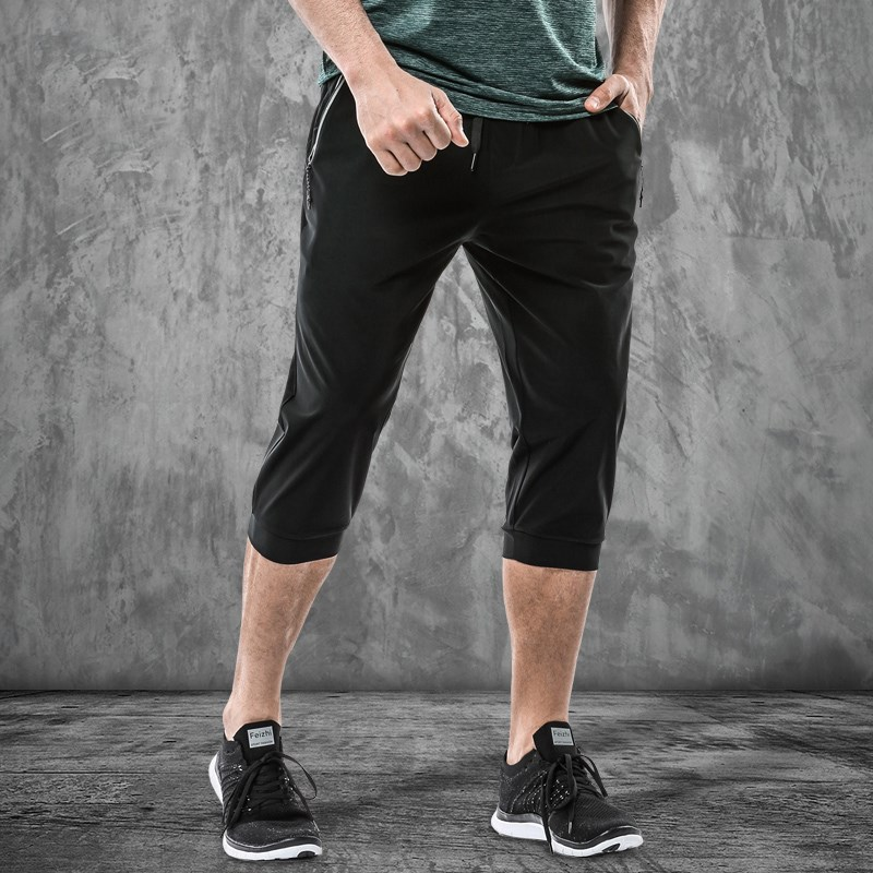 WD1972 2019 Running Sports Shorts pants Cotton Men Breathable Training Fitness for mens(China)