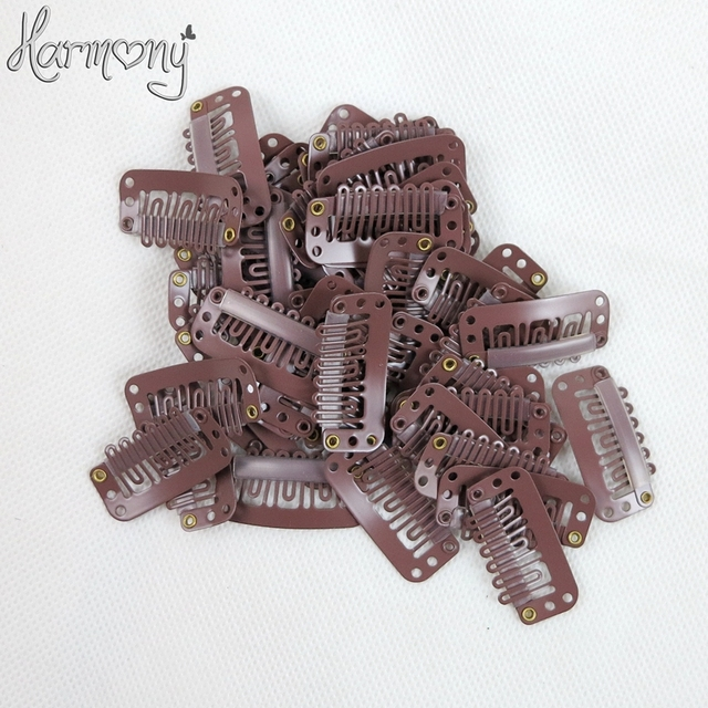 Free shipping!! 100 pieces/bag 2.8cm 6 teeth U shape small hair extension snap clips 6 colors for your choices