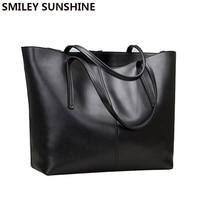 Genuine Leather Female Shoulder Bag Luxury Famous Brand Women Leather Handbag Big Top Handle Bags Bolsos