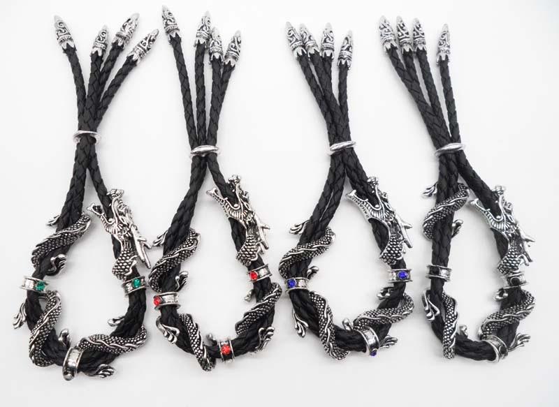 классические кожаные веревки для мужчин дракон браслет регулируемый винтаж браслеты модные украшения бойфренд подарок