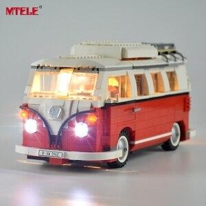 Image 1 - طقم إضاءة ليد ذاتي الصنع من MTELE لسلسلة الخالق ، طقم مصباح شاحنة T1 متوافق مع 10220 21001