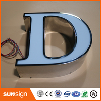 Custom Frontlit LED Illuminated Sign Letters Type Acrylic Letters Signs