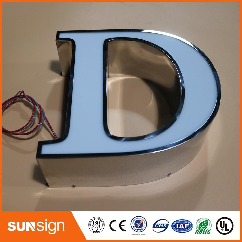 custom frontlit LED illuminated sign letters type acrylic letters signscustom frontlit LED illuminated sign letters type acrylic letters signs