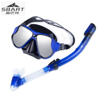 SBART Professional Diving Mask Silicone Scuba Equipment Full dry Snorkel Anti Fog Swimming Snorkeling Diving Swim Eyewear