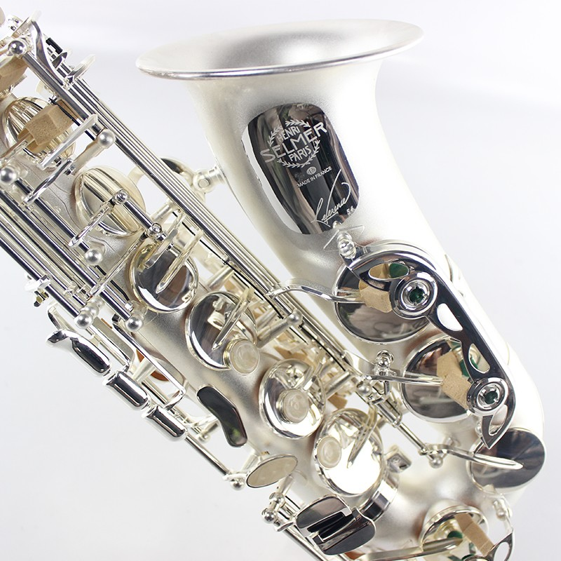 France Salmer Saxophone R54 Professional Music Instrument Eb Tune Alto Saxophone E Flat Brass Matte Silver Plated Pearl Buttons music instruments france 54r alto saxophone e flat alto saxophone black nickel play professional brass saxophone free shipping
