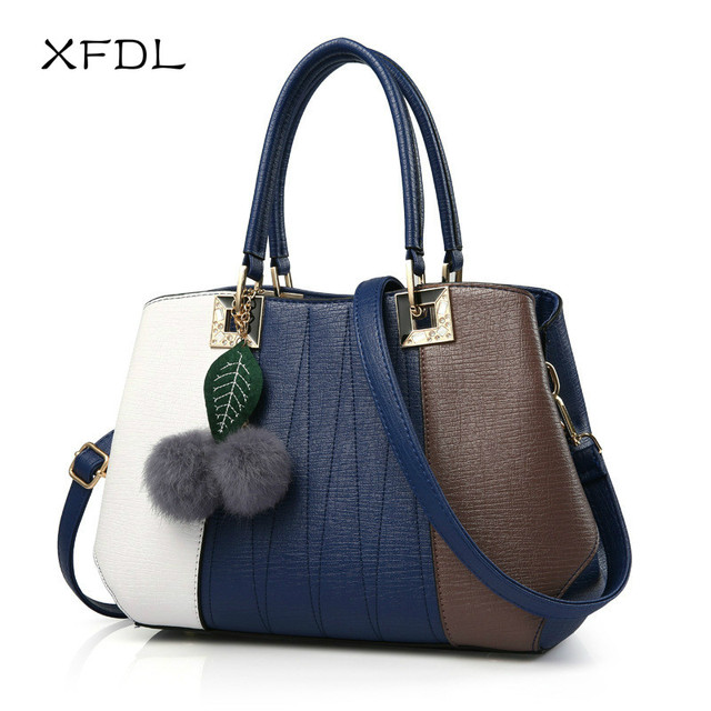 2017 Xfdl New Woman Handbag Hit Color Wild Fashion Trendy Handbags Simple Messenger Bag Brand