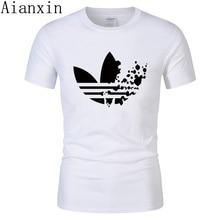 1b3018ba 2019 summer New High quality men T shirt casual short sleeve o-neck 100%