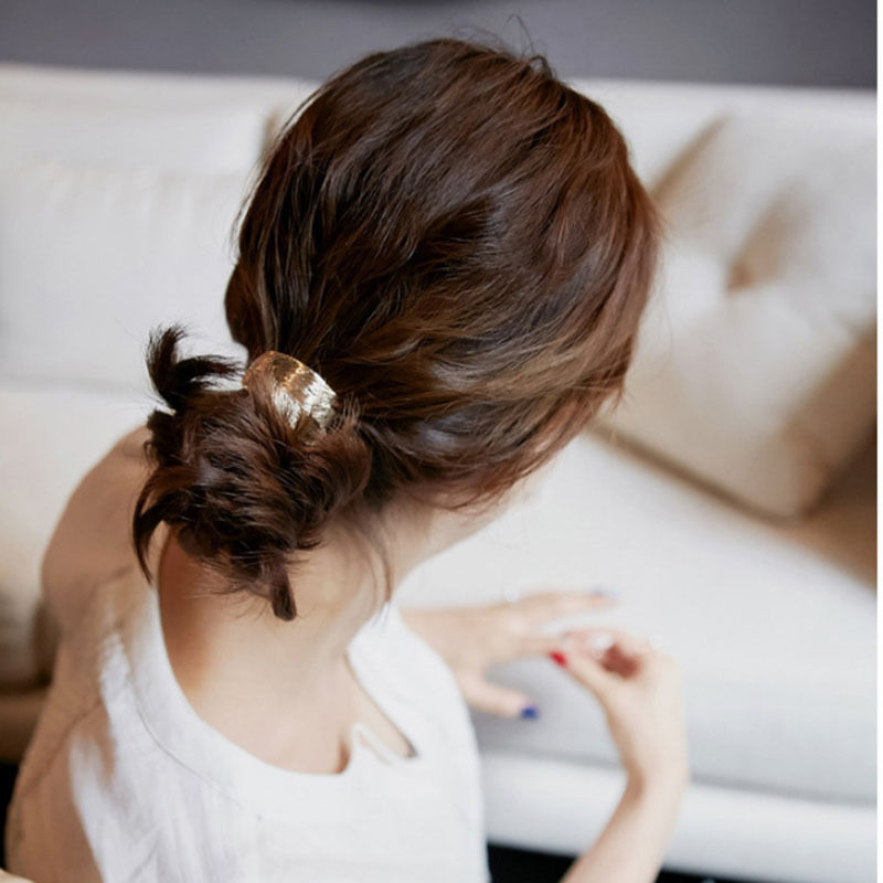 Women Lady Leaf Hair Band Rope Headband Elastic Ponytail Holder Headband Elastic Ponytail Holder Party Vacation Hairband