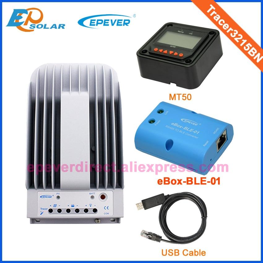 MPPT solar panel battery regulator 30A Tracer3215BN BLE box USB cable and MT50MPPT solar panel battery regulator 30A Tracer3215BN BLE box USB cable and MT50