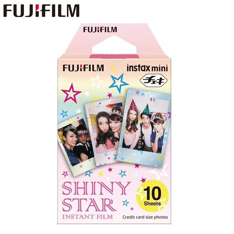 Oriģināls Fujifilm Fuji Instax Mini 8 spīdīgs zvaigzne izdrukas filmas 10 lapas 7 7s 8 9 50s 7s 90 25 Dalīties SP-1 2 3 Instant Cameras