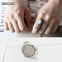 XIAGAO Original 100 925 Sterling Silver Vintage Open Finger Rings For Women With Stone Sterling Silver