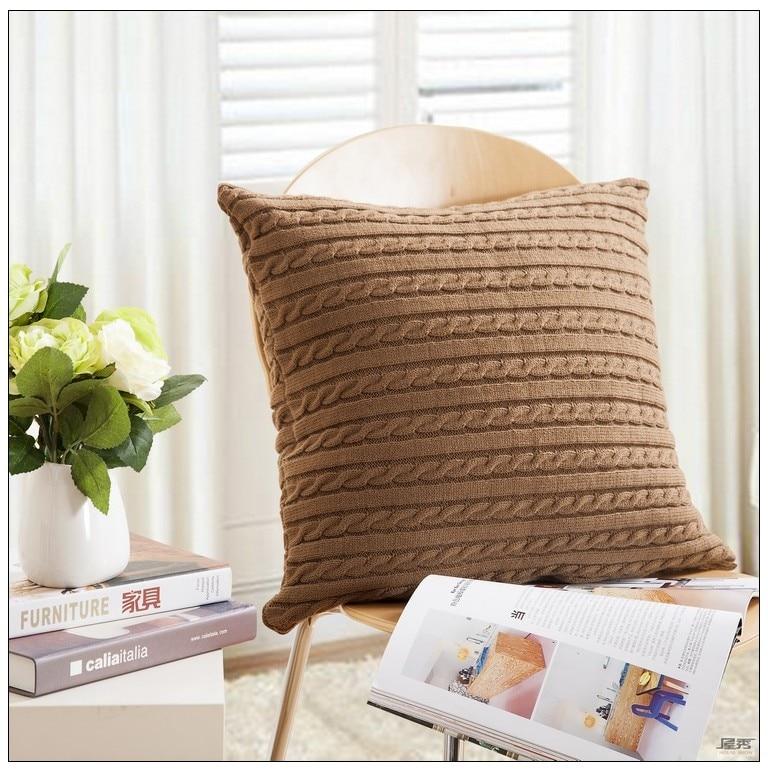 Aliexpress Buy Drop Ship Cotton Knitted Decorative Pillow