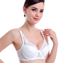 34 36 38 40 42 44 B C D E cup Brand sexy women how out lace intimates push up bra ladies lingerie transparent big size bra 3306