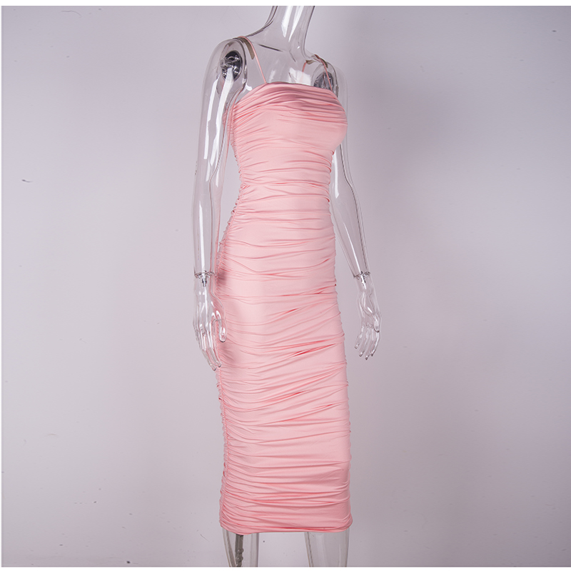 HTB1tsSRXAY2gK0jSZFgq6A5OFXaH - NewAsia 2 Layers White Summer Dress Women 2020 Elegant Straps Ruched Maxi Dress Pink Long Dress Sexy Dresses Party Night Robe