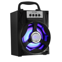 Portable Multi Functional Bluetooth Speaker Big Drive Unit Bass Colorful Backlight FM Radio Support AUX 3