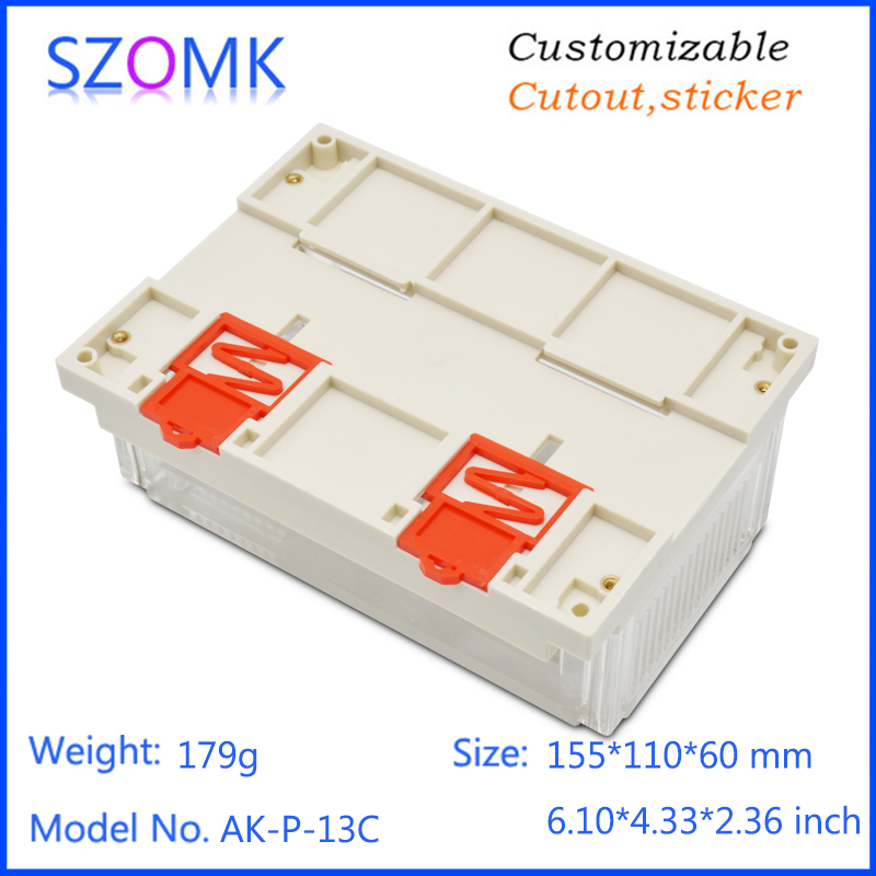 szomk plastic din rail enclosure electronics box PLC instrument plastic housing case plastic junction box (11)
