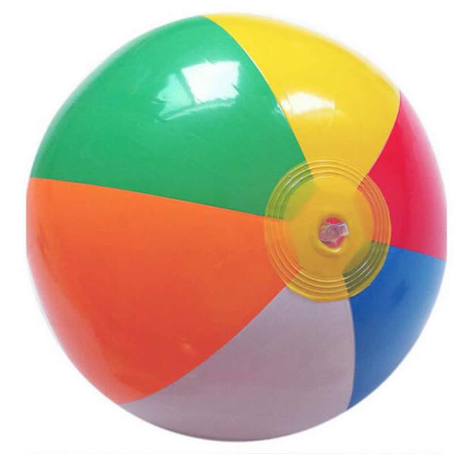 CCINEE 1PCs Beach Ball 35CM Colored Inflatable Balls Rubber Children Toy For Kids Outdoor