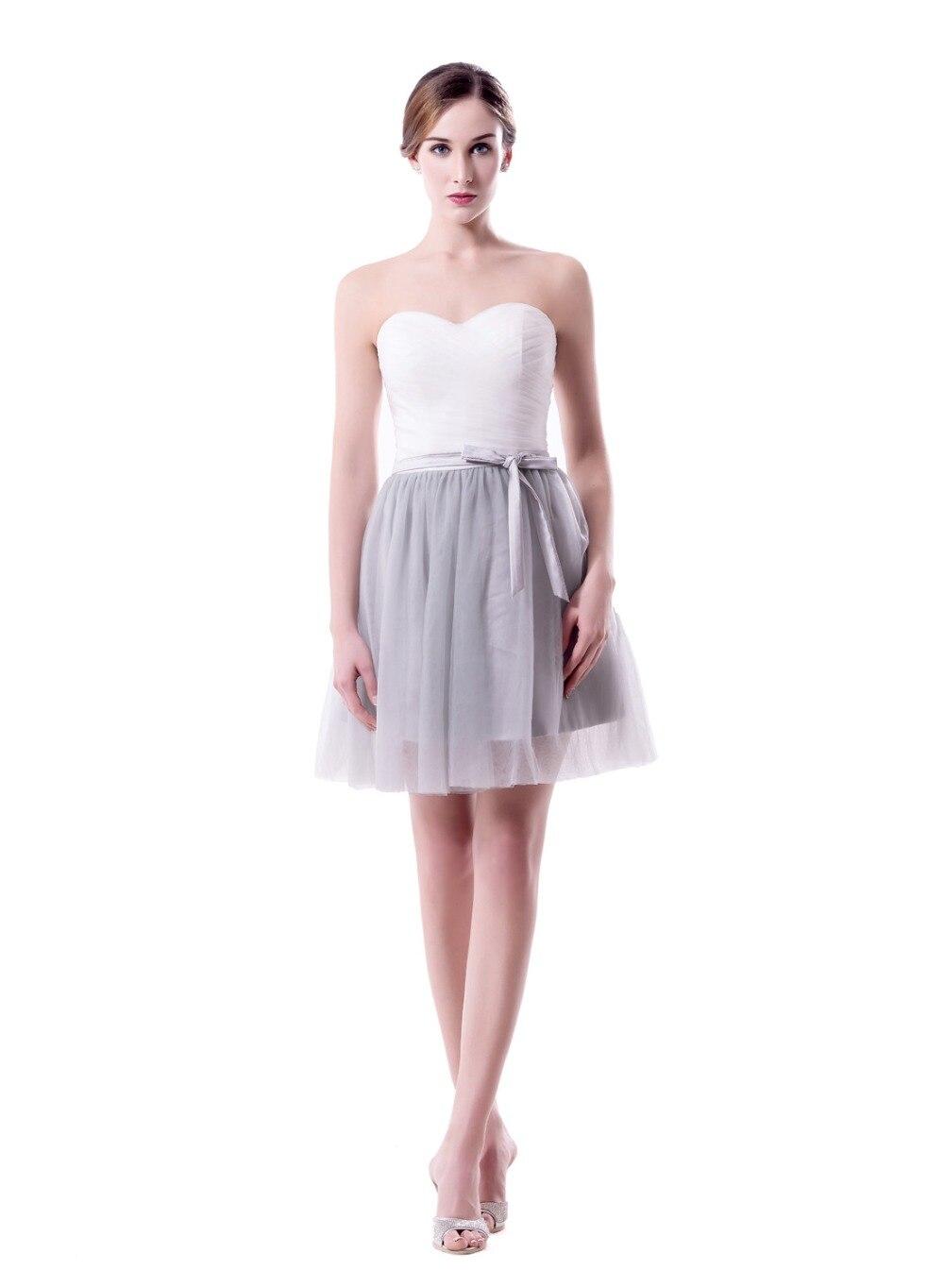 Sweetheart Short Tulle   Bridesmaid     Dress   Appliques Zipper Back A Line   Dress   Tull 2019 Wedding Party   Dress   robe demoiselle d'h