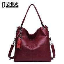 ФОТО dizhige brand tassel genuine leather bags for women luxury handbags women bags designer cowhide shoulder bag ladies 2018 new sac