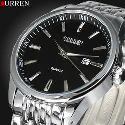 Męskie zegarki Top marka luksusowe Curren mężczyźni pełne nierdzewne stalowe analogowe data kwarcowy Casual zegarek zegarki na rękę Relogio Masculino w Zegarki kwarcowe od Zegarki na
