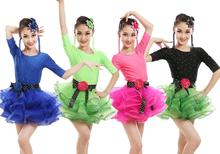 Purelover Latin Dance Bling Diamond dress Kids Ballet Jazz Performance Costumes competition skating dresses ballroom kleid