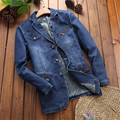 2017 Spring New Mens Denim Blazer Casual Slim Fit Jacket Suit Men Plus Size Denim Blazers Male Dress Blazers 3Xl A1642