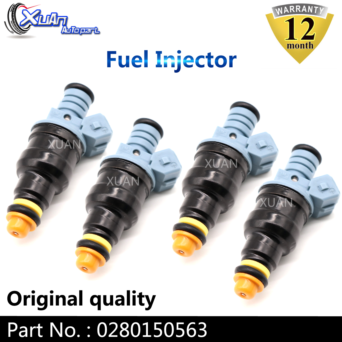 XUAN high performance 1712cc Low Impedance Fuel Injector Nozzles 0280150563 For OPEL 9270291 IVECO 8036314 Tuning & Racing Cars