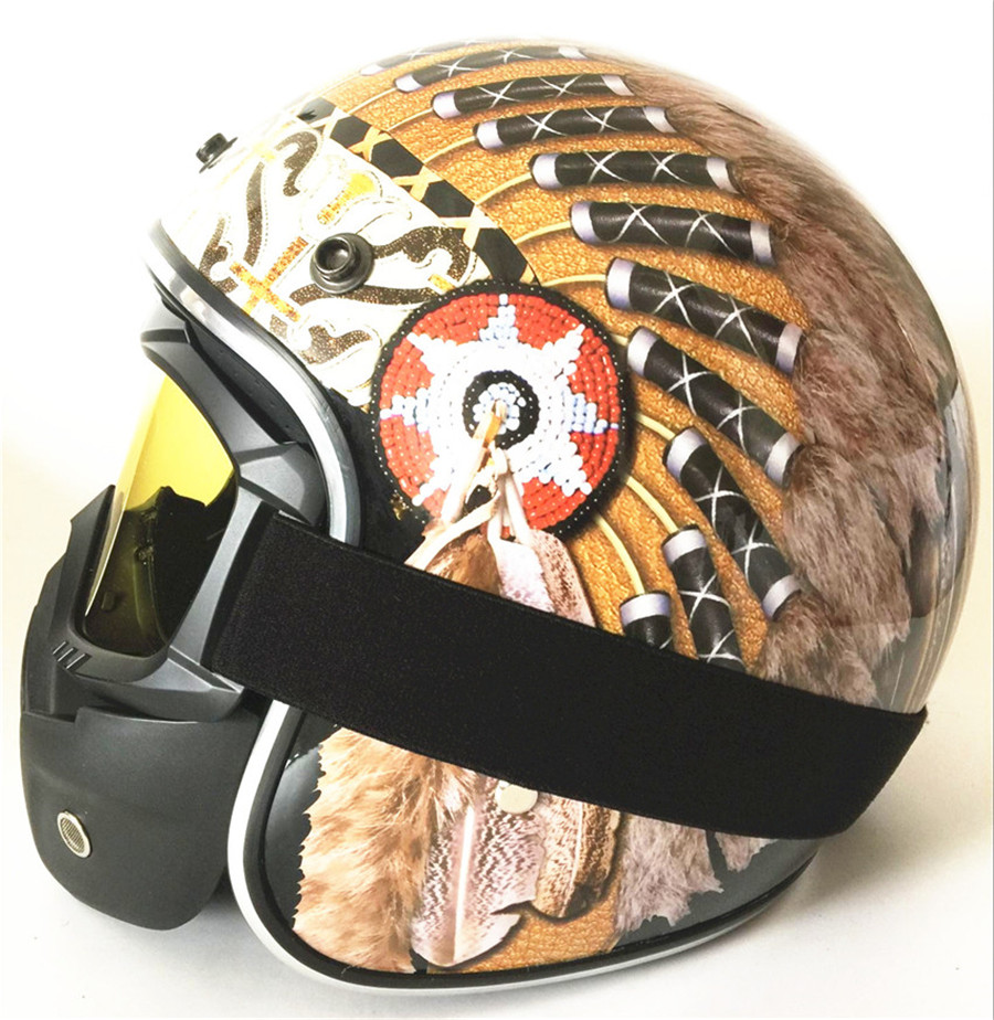 DOT Adulte Inde impression Noir Papillon Moto Rue open Face Casque S M L XL