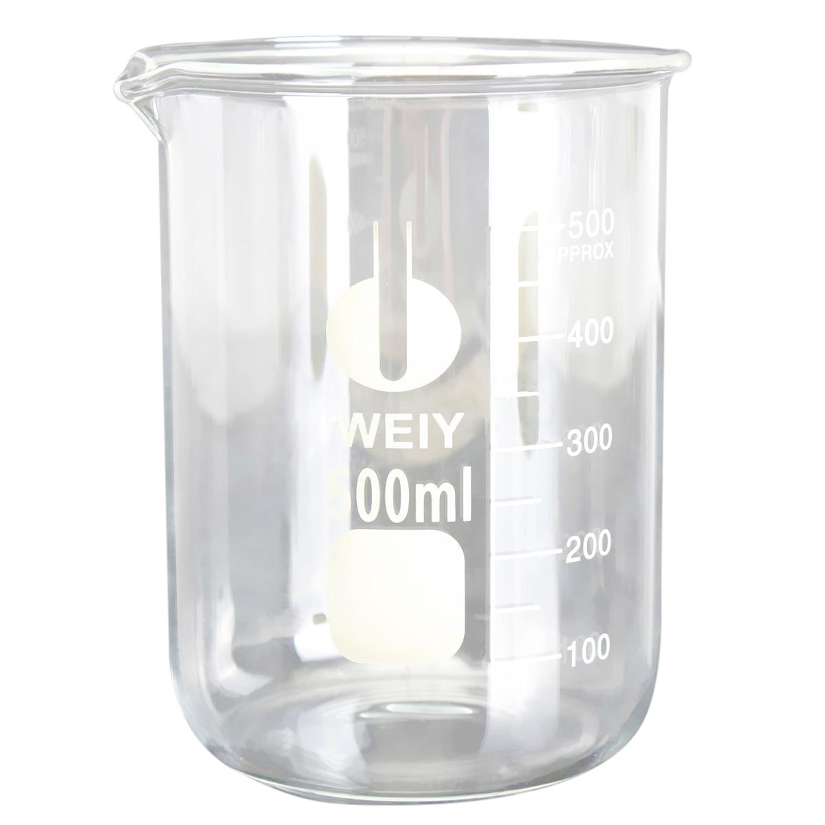 Transparent 500ML Glass beaker Measuring cup mentholatum 500ml