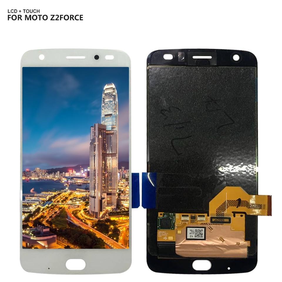 Pour Motorola Moto Z2 Force Écran Tactile Digitizer Lcd Assemblée D'affichage Remplacement Livraison Gratuite