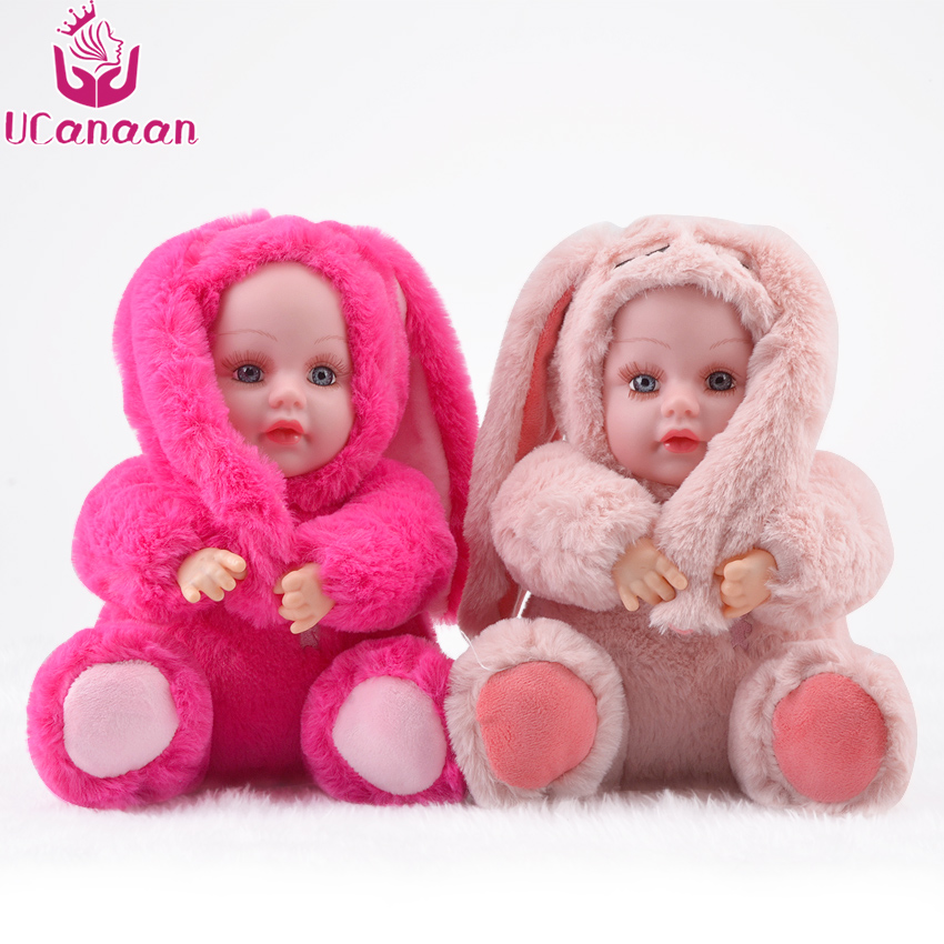 UCanaan 10.6Inch/27CM Cute Rabbit Plush Toy Stuffed Soft Rabbit Doll Baby Kids Toys Animal Toy Birthday Christmas Gift for Her new cute plush toy cow doll simulation game more cattle stuffed animal christmas birthday gift for girls