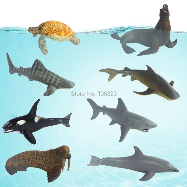 Aliexpress.com : Buy Sea Animal Toys, Dolphins+Tiger Shark