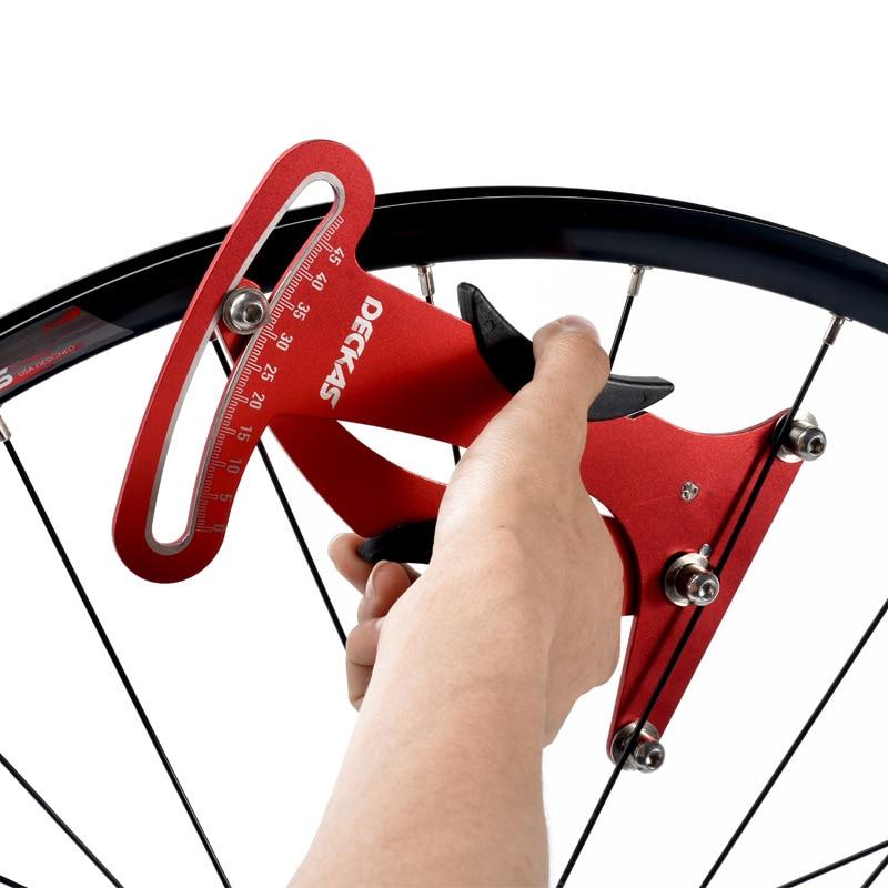 Deckas Bicycle Spoke Indicator Attrezi Meter Tensiometer Bike reflector Tension Wheel Builders repair Tool Parts