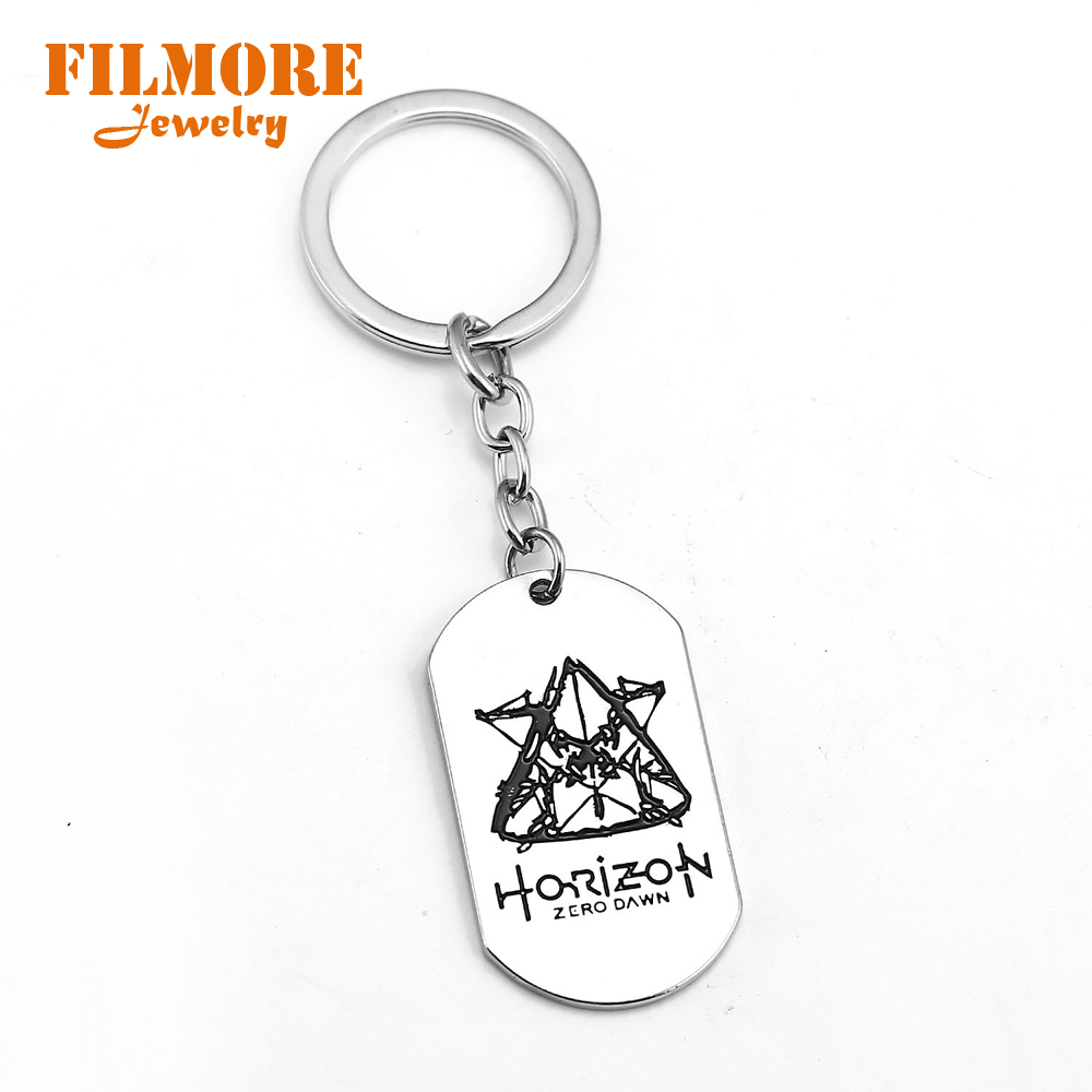 2018 New Game Horizon Zero Dawn Survive Stainless Steel Necklace Long Chain Necklaces Fashion Jewelry Pendant Keychain for Women