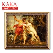 Kreuz stich kits, Stickerei hand sets mit gedruckt muster, 11CT canvas für Wohnkultur Malerei, Porträt Volle NCKP015