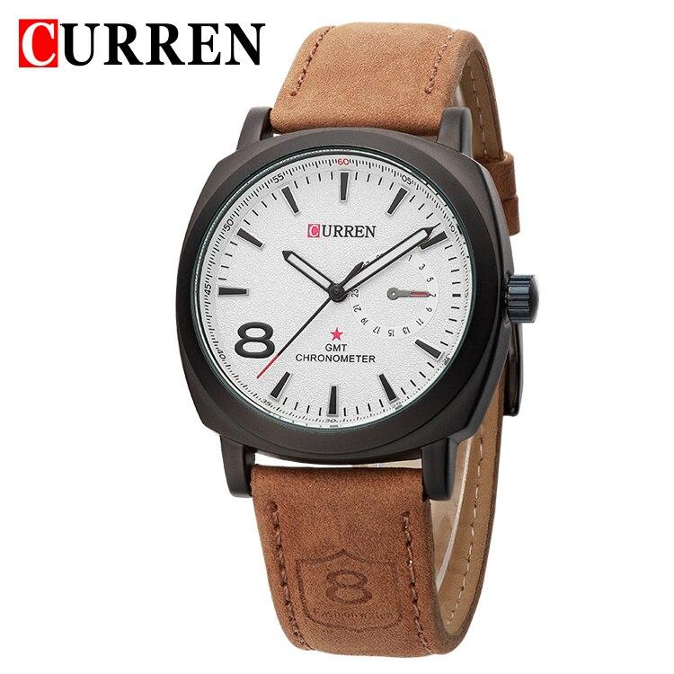 Curren 8139 luxury brand quartz watch Casual Fashion Leather watches reloj masculino men watch free shipping Sports Watches curren men s fashion casual simple canvas cool quartz sports watches