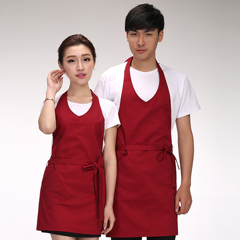 Kitchen Cooking Apron Women Men Long Apron Cafe Restaurant Chef Pinafore Waiter Waitress Apron Household Cleaning Tools