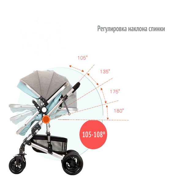 anershi Stroller Baby Stroller for winter Poland 2 in 1 LONEX Russia Free deliver from Russia 4