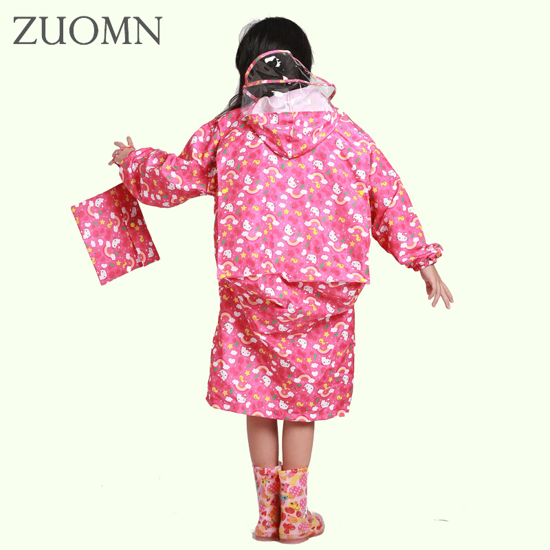 Students Raincoat With School Bags Children Rain coat With SchoolBag Waterproof Raincoats Rainwear Boys Grils Rainsuit YL377 waterproof raincoat kids children boys long cute poncho lluvia mujer girls raincoat impermeable backpack rain cover ddg48y