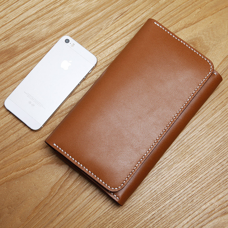 LANSPACE men s Genuine Leather wallets famous brand purse handmade coin purses holders