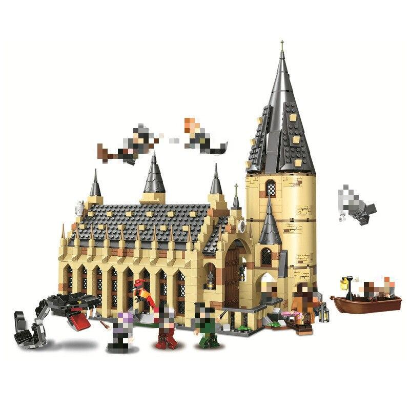 2018 Новый 983 16052 шт. Харри Поттер серии Хогвартс большой зал Строительные блоки Кирпич развивающие игрушки Совместимость Legoing 75954