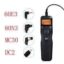 Mc30 dc2 60e3 80n3 cabo de controle liberação do obturador remoto para canon nikon dslr câmera