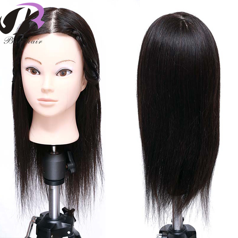 16 Inch 100% Real Human Hair Mannequin Head With Hair Training Maniqui Head For Hairdresser Hairdressing School Manikin Head16 Inch 100% Real Human Hair Mannequin Head With Hair Training Maniqui Head For Hairdresser Hairdressing School Manikin Head