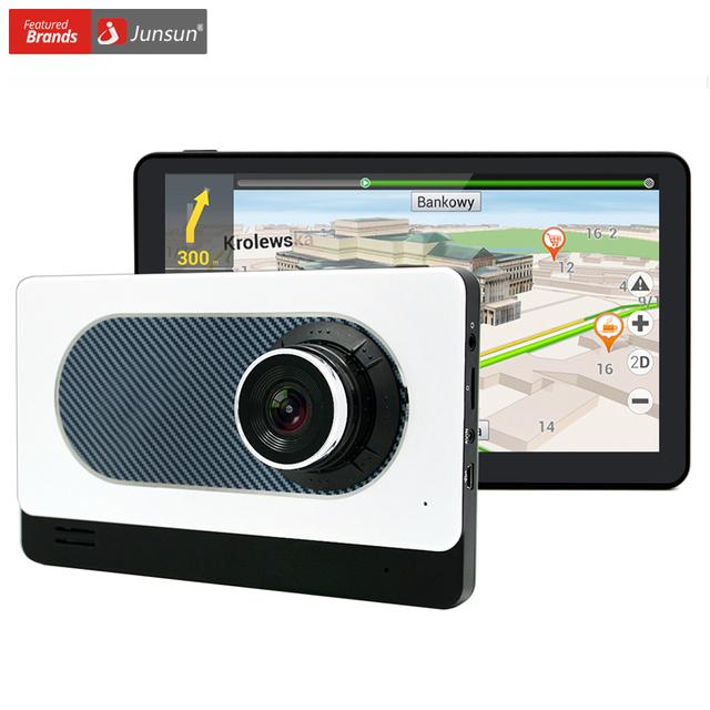 Junsun 7 polegada android 4.4 do caminhão do carro de navegação gps com dvr Camera Recorder WIFI FM Sat nav Navigator Mapa Livre Lifetime Atualização
