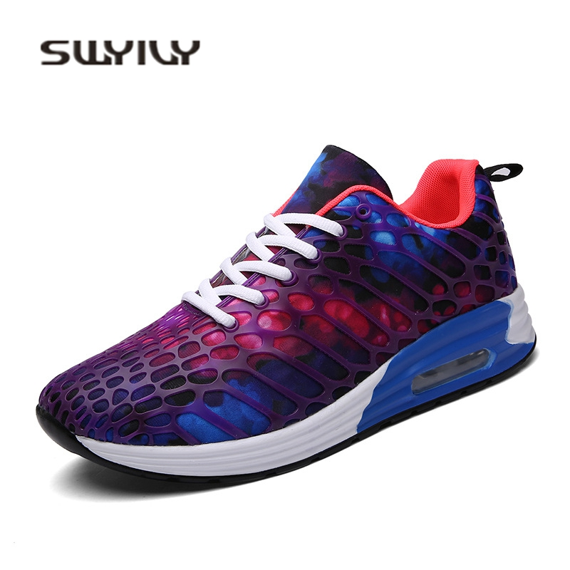 SWYIVY Woman Sneakers Color Sky Mesh Breathable Unisex Casual Shoes Camouflage 2018 Spring Flat Light Shoes Sneakers Woman 45 44 swyivy women sneakers light weight 2018 41 woman casual shoes slip on lazy shoes comfortable candy color breathable net shoe
