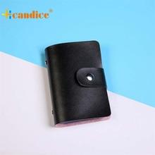 Best Gift Hcandice New Men Women Leather Credit Card Holder Case Card Holder Wallet Business Card drop ship bea676