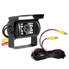 Супер Дело Автомобилей Парковочная Камера DC12-24V Водонепроницаемый ИК Ночного Видения Камеры Заднего вида С 6 М RCA Av-кабель Reverseing камера