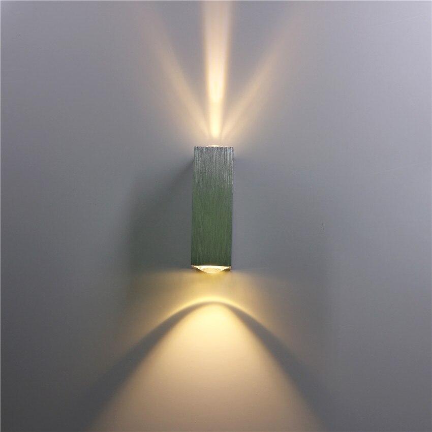 3 Watt Led Wandleuchte Aluminium Wandleuchte Up Down Wandleuchten Wandleuchten Für Schlafzimmer Nacht Korridor Wohnzimmer Bl15 Led-lampen