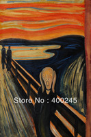 Pintura abstracta de la lona arte El Grito de Edvard Munch famosa obra de arte 100% pintado a mano de Alta calidad decoración de la habitación